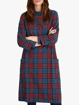 Seasalt Newford Island Check Dress, Byzantina Fleet