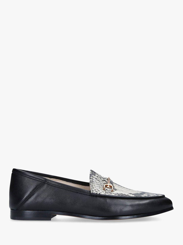 Sam Edelman Sam Edelman Loraine Leather Snake Print Detail Loafers, Black