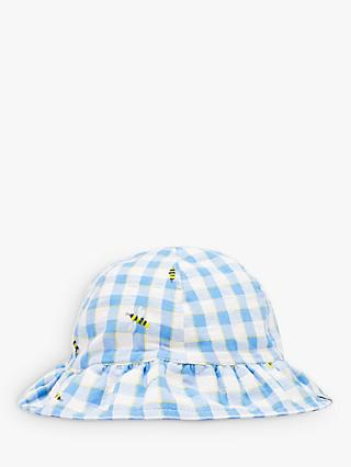 Baby Joule Buzzy Frill Hat, Blue
