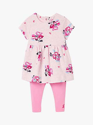 Baby Joule Christina Floral Dress and Leggings Set, Pink/Multi