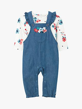 Baby Joule Wilbury Official Peter Rabbit™ Collection Dunagrees and Top Set, Blue Denim