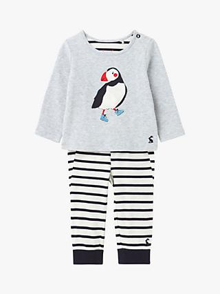 Baby Joule Byron Puffin Top and Trousers Set, Grey