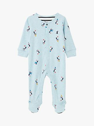 Baby Joule Puffin Babygrow, Blue
