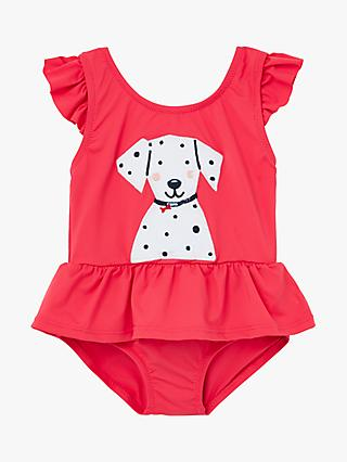 Baby Joule Frillwell Swimming Costume, Red