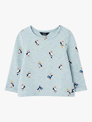 Baby Joule Boo Puffins Top, Blue