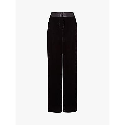 Ghost Eden Silk Velvet Trousers, Black