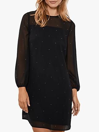 Mint Velvet Studded Dress, Black