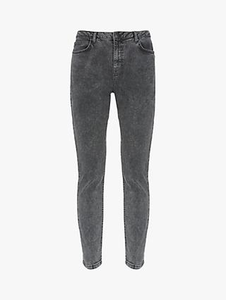 Mint Velvet Joilet Acid Wash Jeans, Grey