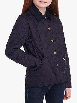 Barbour Girls' Liddesdale Quilted Jacket, Navy