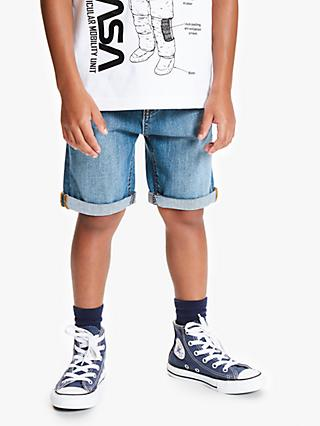 John Lewis & Partners Boys' Denim Shorts, Blue