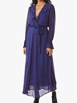 Ghost Su Scatter Heart Print Dress, Lainey Heart Scatter