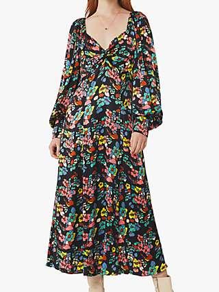 Ghost Jules Floral Dress, Blue/Multi