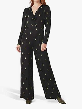Ghost Iva Pineapple Jumpsuit, Black