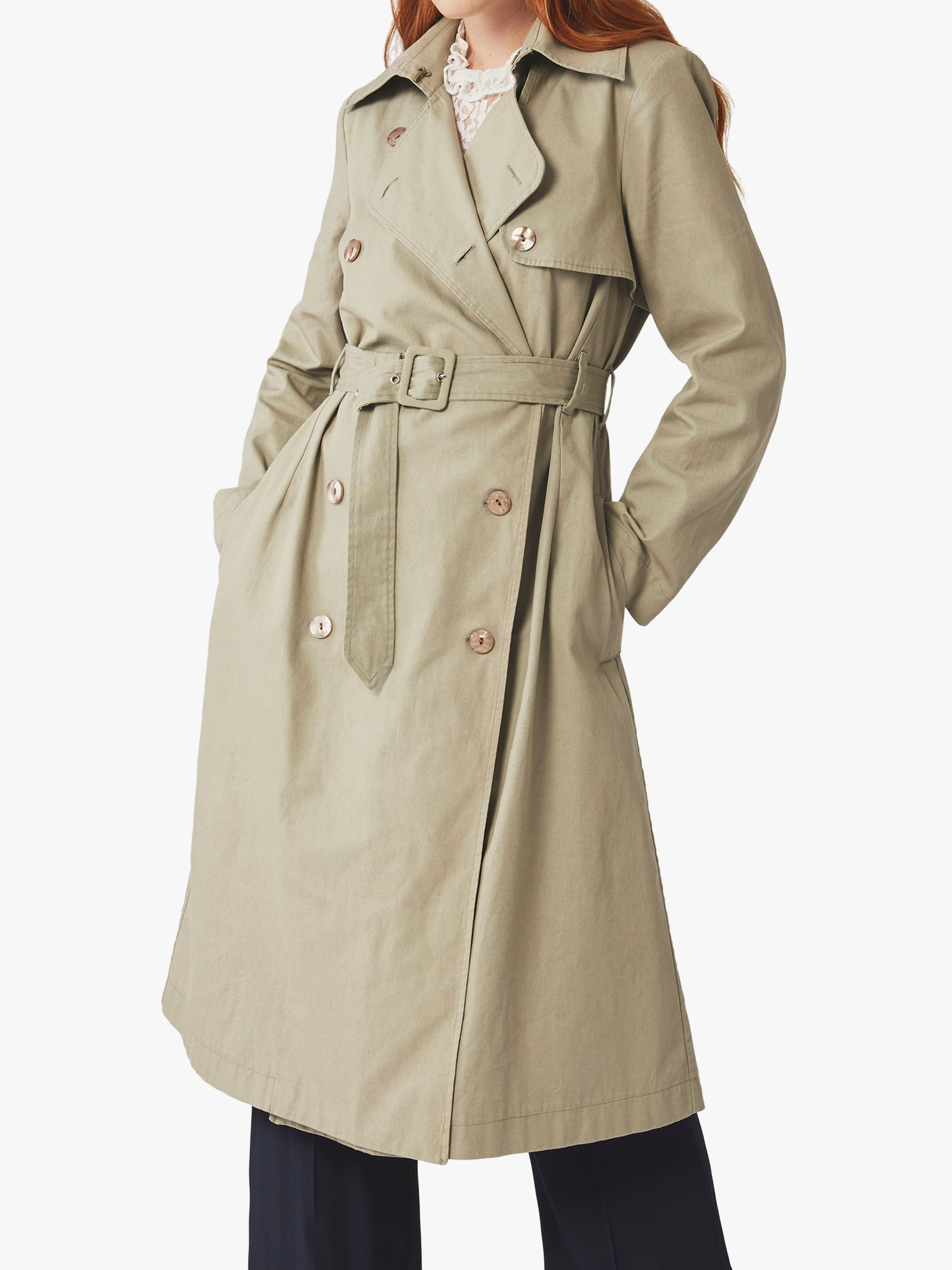Ghost Ghost Celie Trench Coat, Khaki