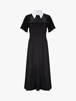 Finery Kalina Collared Midi Dress, Black