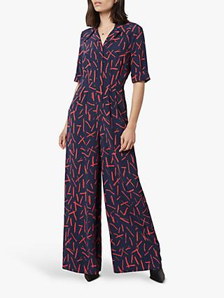 Finery June Matchstick Print Jumpsuit, Multi