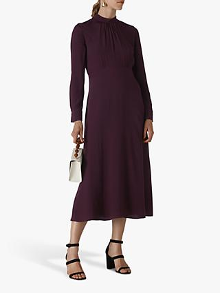 Whistles Ruby Long Sleeve Midi Dress