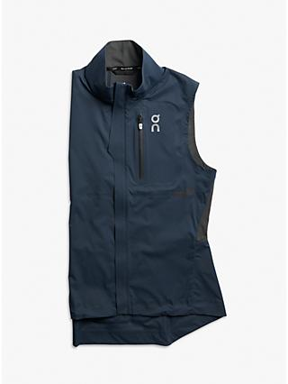 On Weather Women's Water Resistant Running Gilet, Navy/Shadow