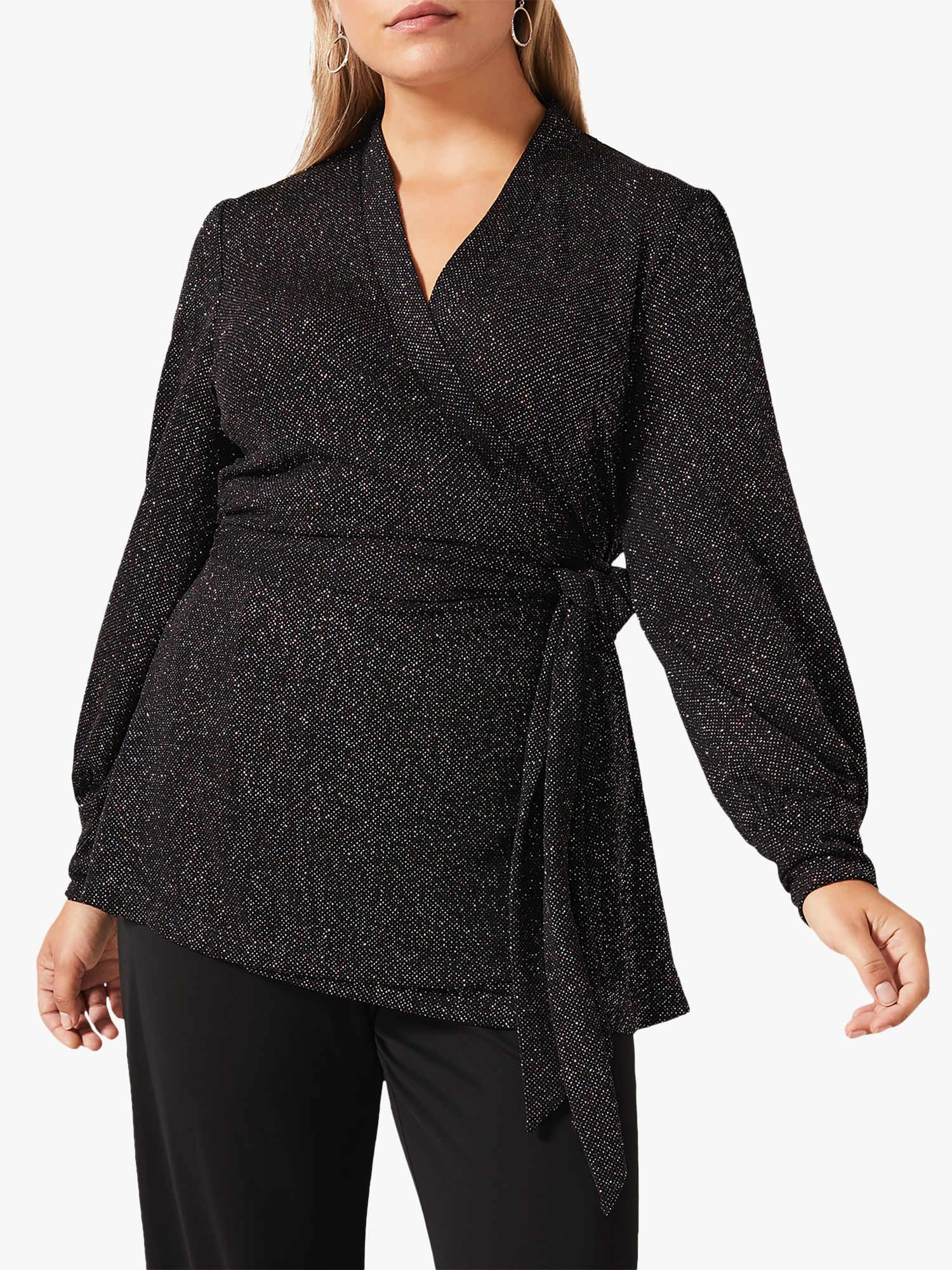 Studio 8 Studio 8 Denver Sparkle Wrap Top, Black