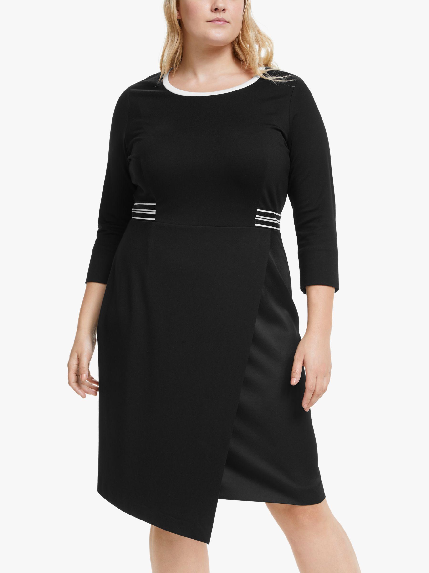 Persona by Marina Rinaldi Persona by Marina Rinaldi Onda Stripe Dress, Black