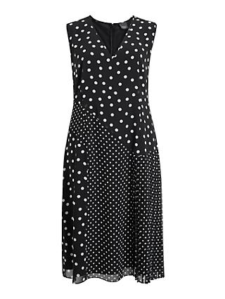 Persona by Marina Rinaldi Duca Spot Dress, Navy
