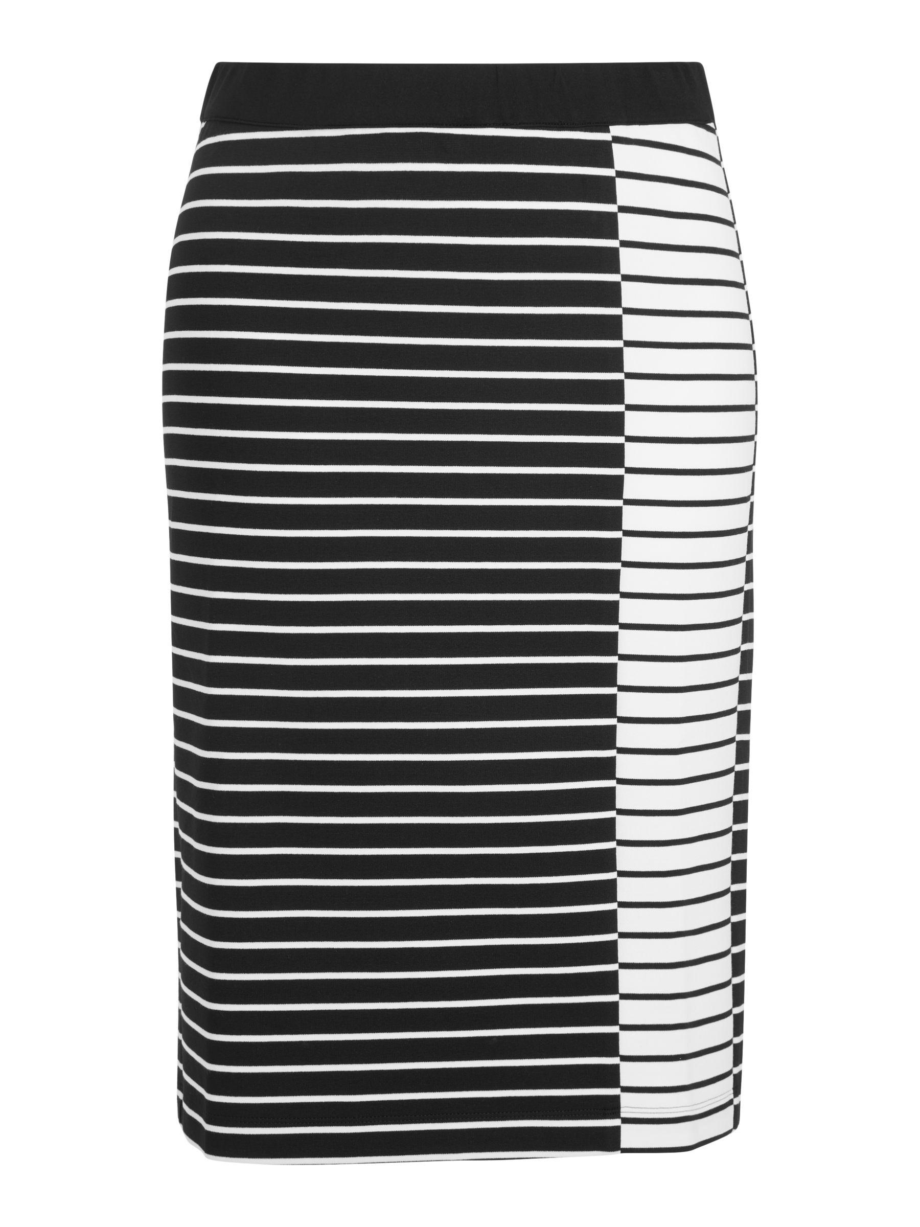 Persona by Marina Rinaldi Persona by Marina Rinaldi Olmo Stripe Skirt, Black