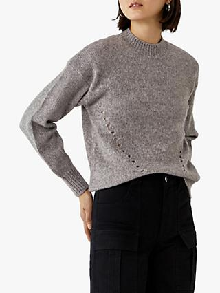 Warehouse Curved Hem Jumper