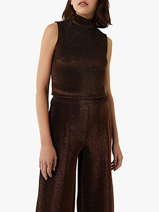 Warehouse Sparkle Funnel Neck Tank Top