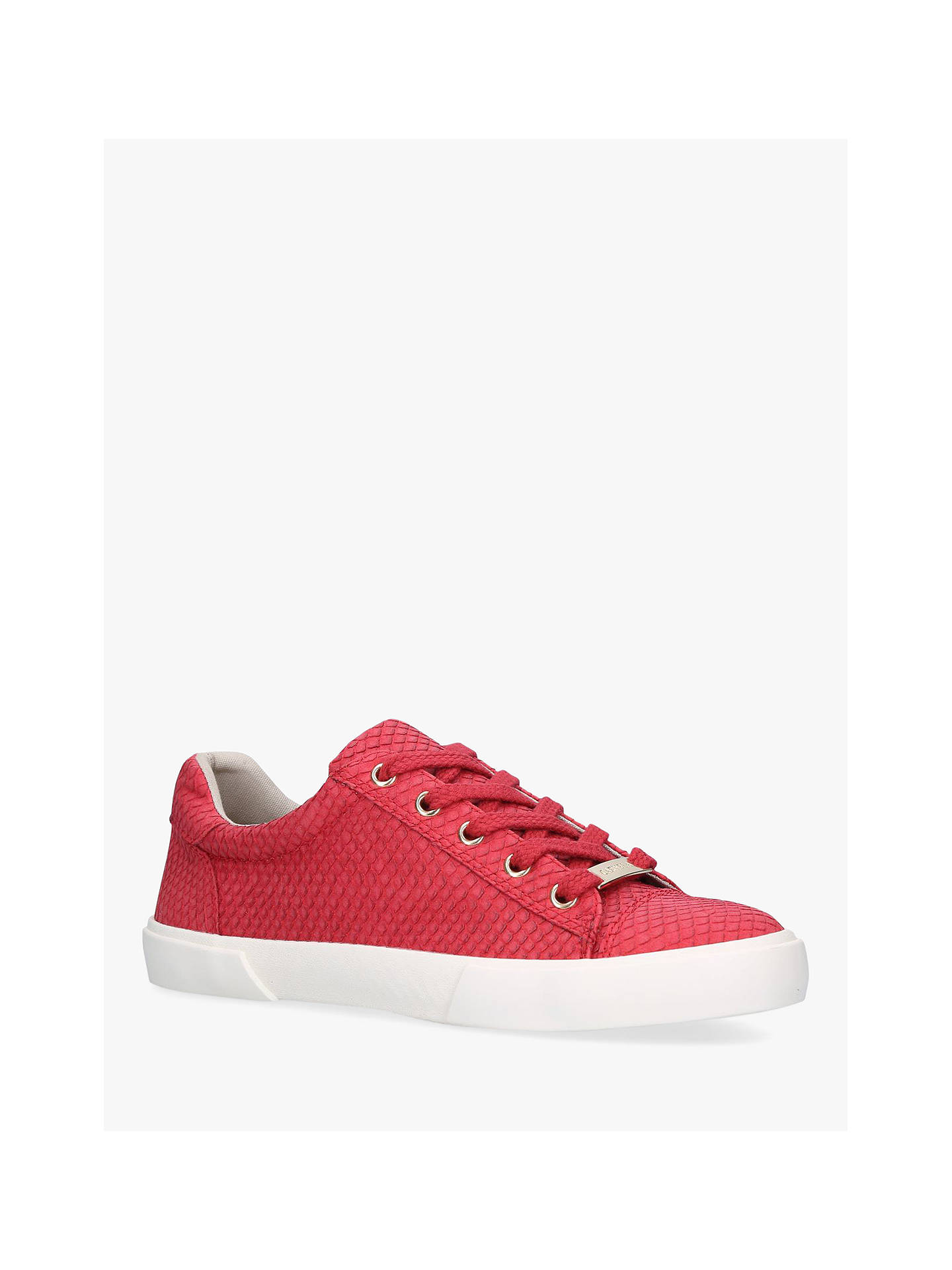 Buy Carvela Light Lace Up Trainers, Red, 3 Online at johnlewis.com