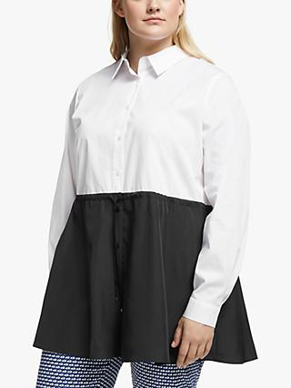 Persona by Marina Rinaldi Falda Colour Block Blouse, Black/White