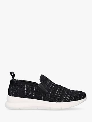 Carvela Comfort Crimp Tweed Slip On Trainers