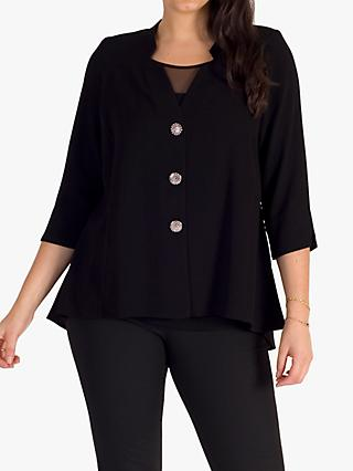 Chesca Crepe Jacket, Black