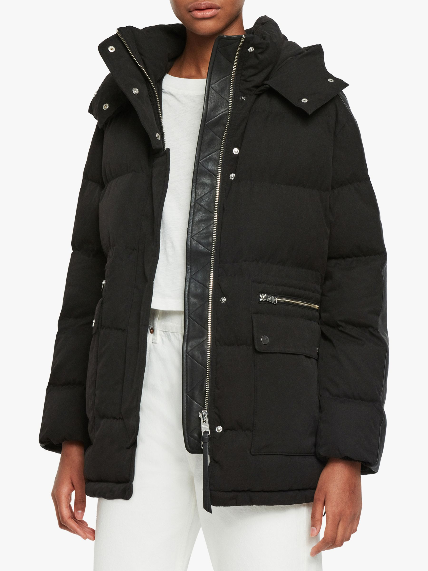 AllSaints AllSaints Kyle Parka Puffer Jacket, Black