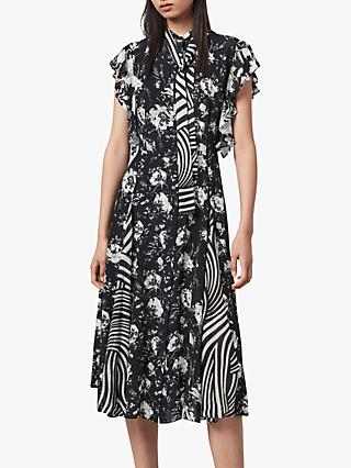 AllSaints Kiti Amapolo Midi Dress, Black