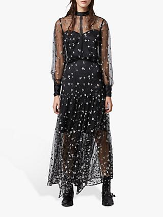 AllSaints Leria Flora Dress, Black