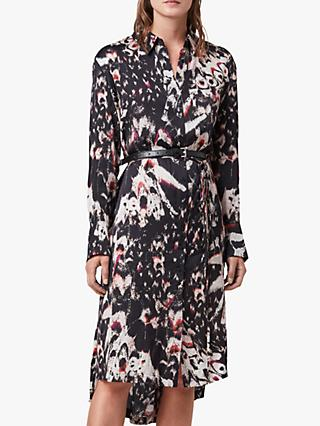 AllSaints Anya Wing Shirt Dress, Black