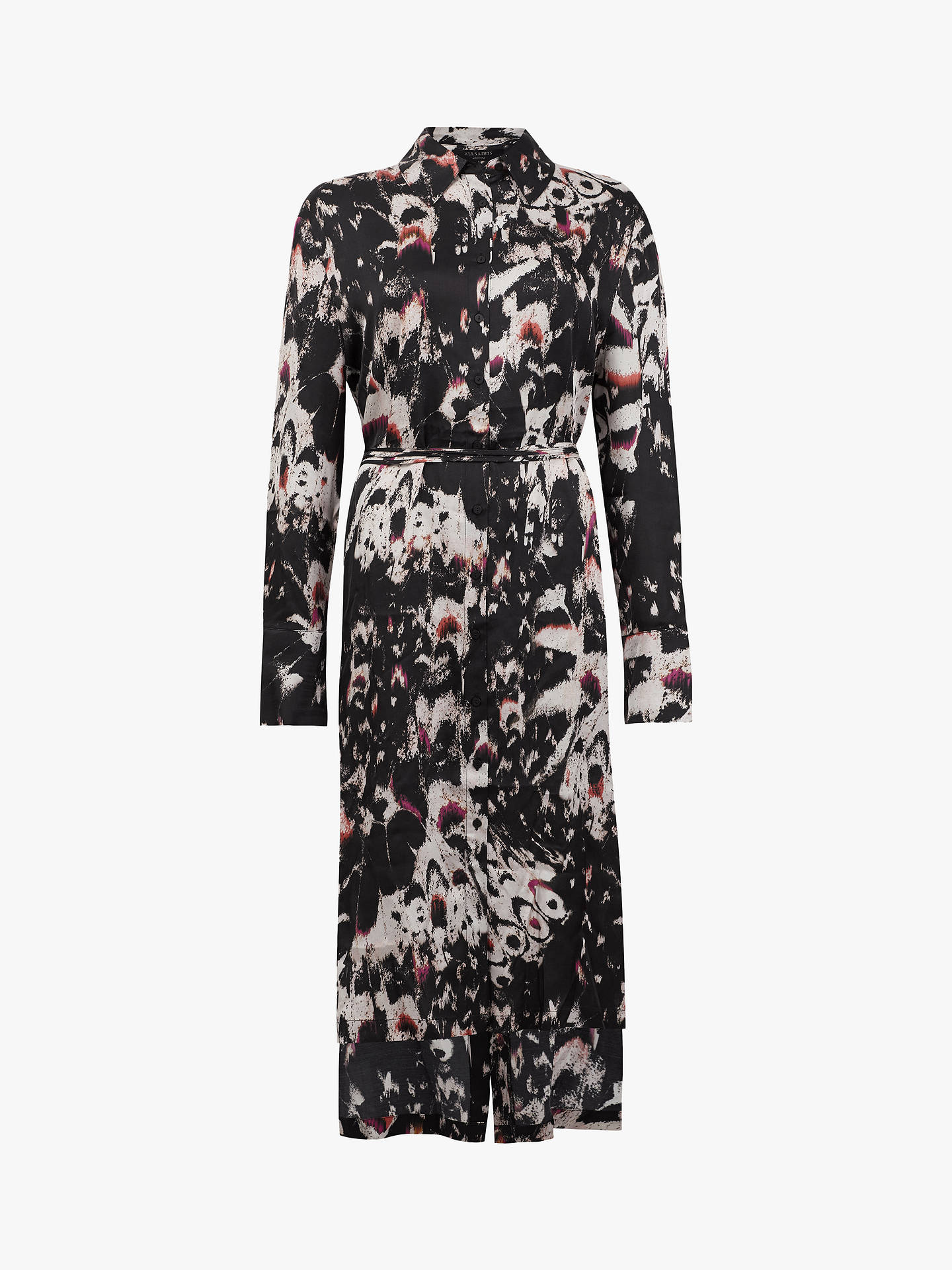 Buy AllSaints Anya Wing Shirt Dress, Black, S Online at johnlewis.com