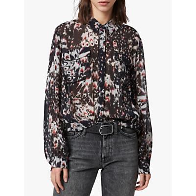 Image of AllSaints Adeliza Wing Shirt, Black
