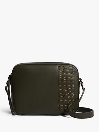 AllSaints Nina Stud Square Leather Crossbody Bag