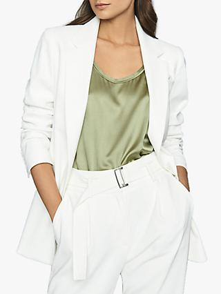 Reiss Mia Fluid Blazer, White