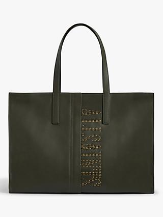 AllSaints Nina East West Stud Leather Tote Bag