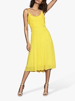 Reiss Thora Pleated Chiffon Dress