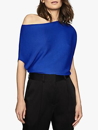 Reiss Meryl Drape Sleeve Top