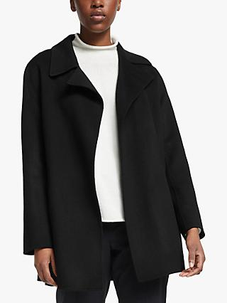 Theory Double Faced Wool Coat, Black