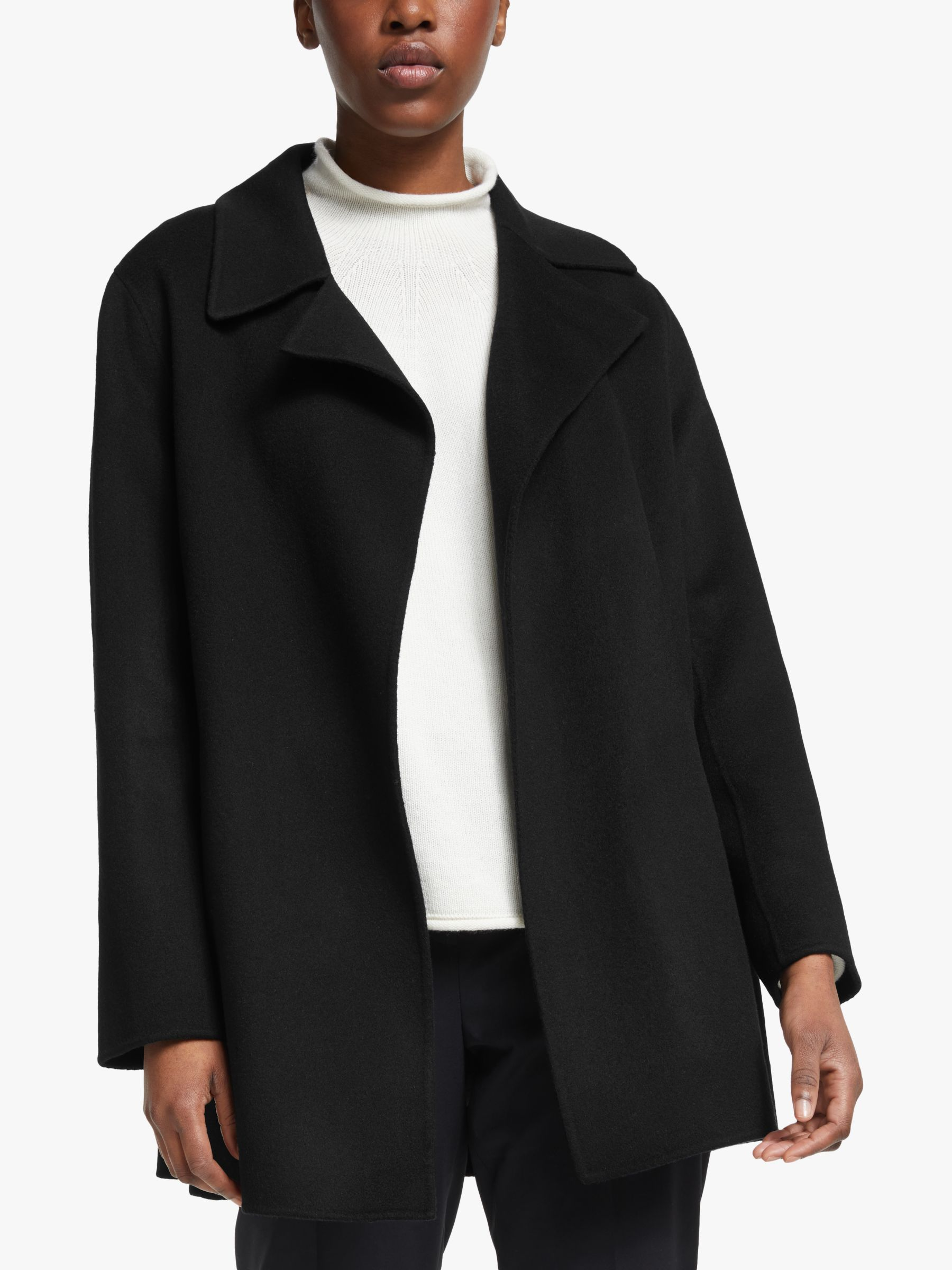 Theory Theory Double Faced Wool Coat, Black
