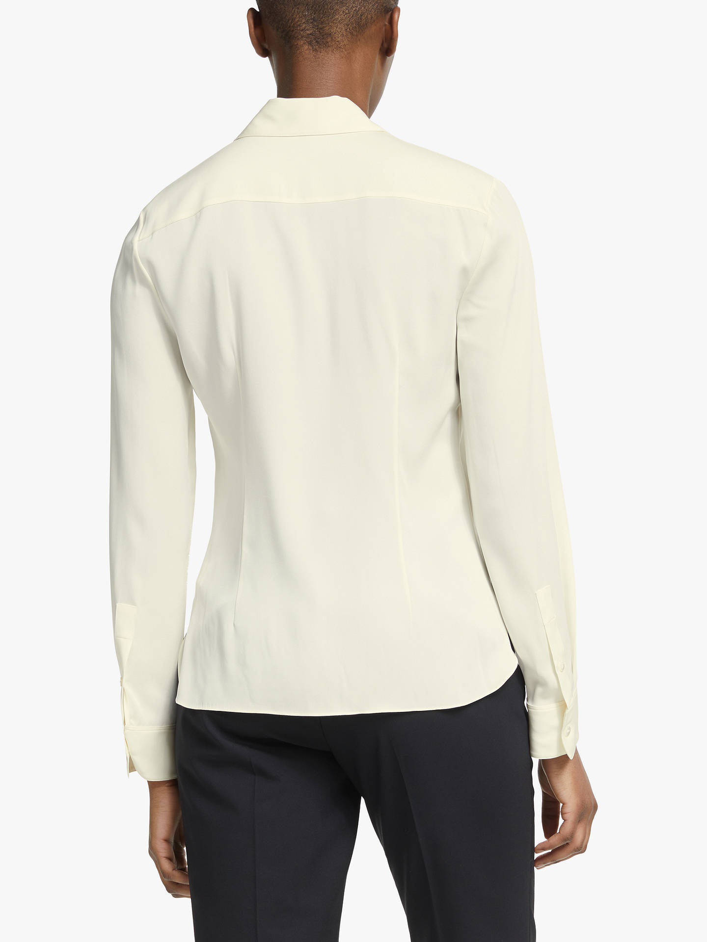 Buy Theory Classic Core Fit Silk Shirt, Ivory, M Online at johnlewis.com