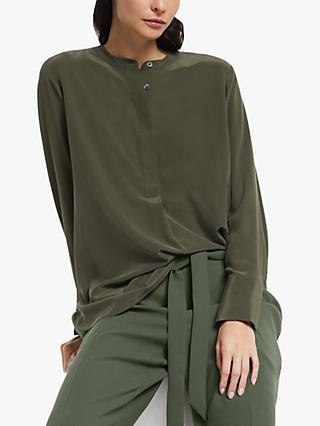 Modern Rarity Silk Tunic Blouse, Green
