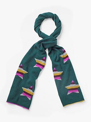 White Stuff Cashmere Star Scarf, Teal