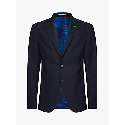 Tommy Hilfiger TH Flex Check Slim Fit Blazer, Navy