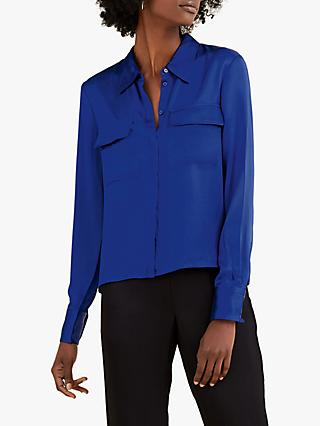 Pure Collection Satin Utility Blouse
